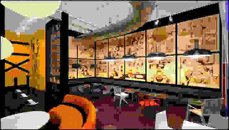Дизайн интерьера кафе ART CAFE Бары и клубы в стиле лофт от TUR4ENKONATALY design space Лофт