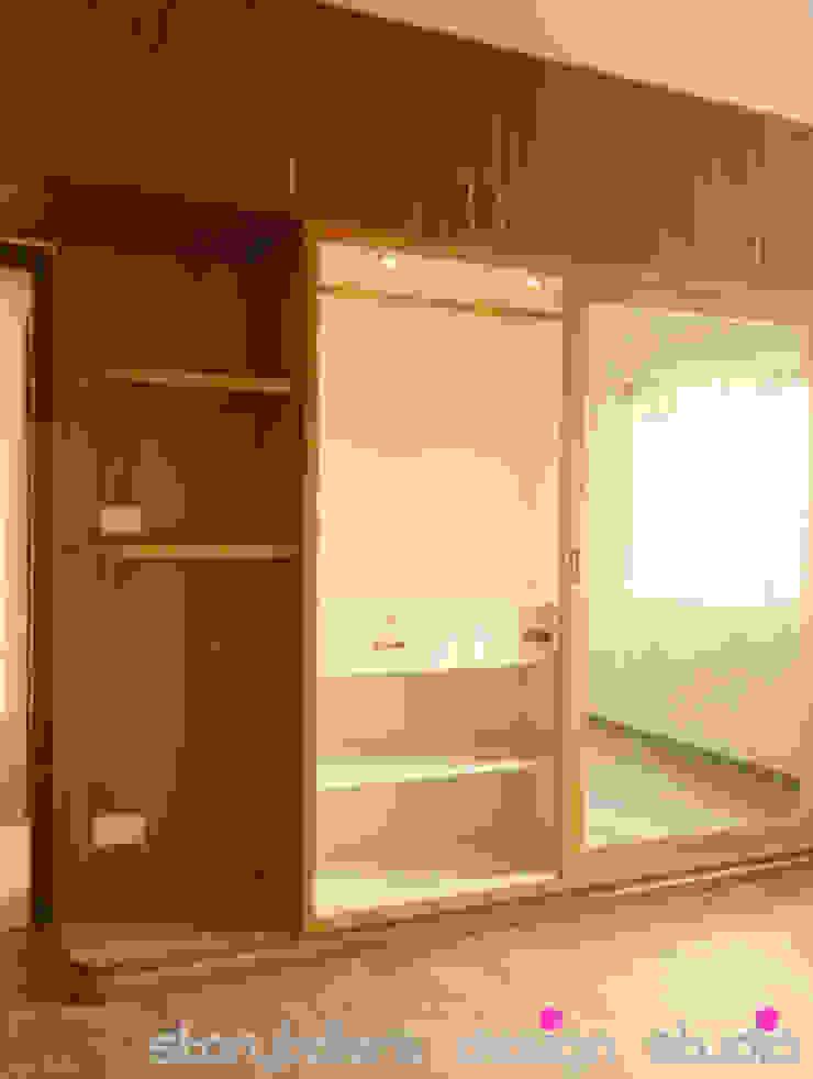 Flat Interiors Modern style bedroom by Storytellers Design Studio Modern