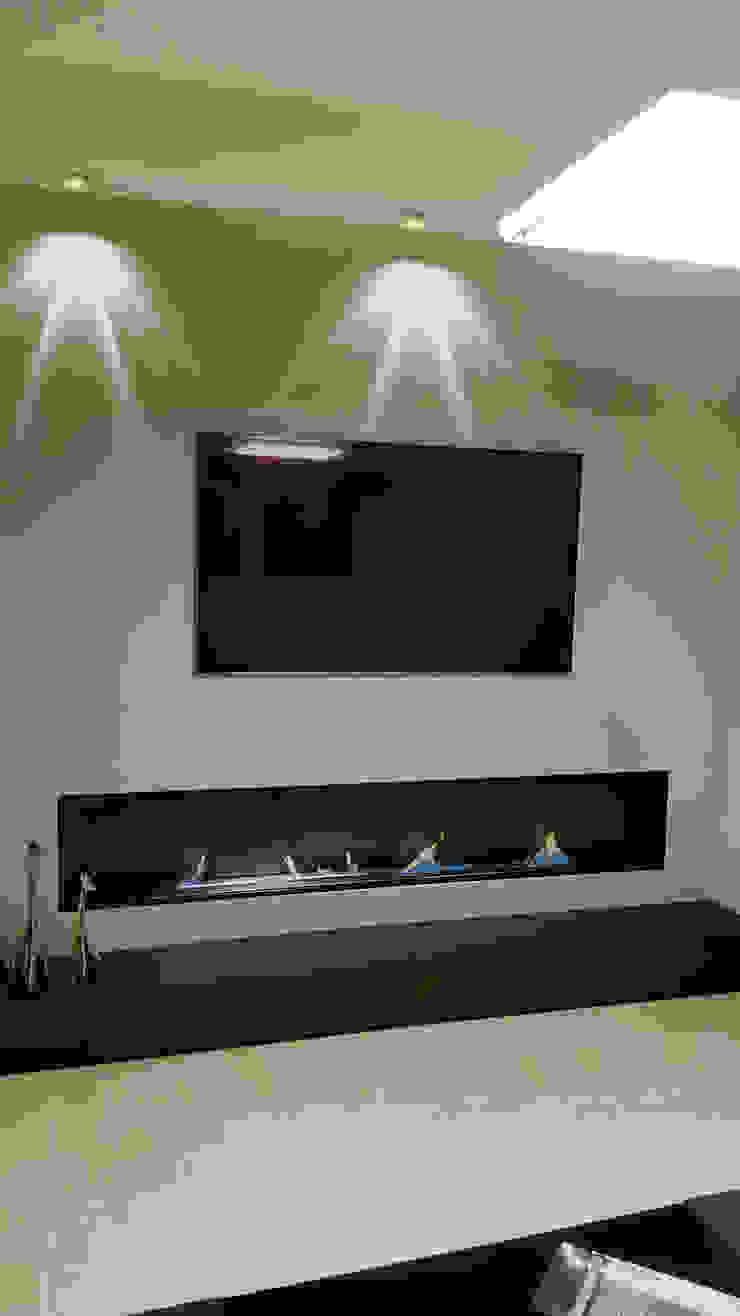 Shio Concept Minimalist living room Iron/Steel Black