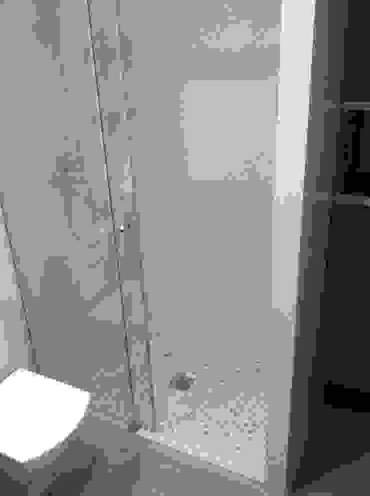 Cuartos de baño con platos de ducha de obra con piedra ...