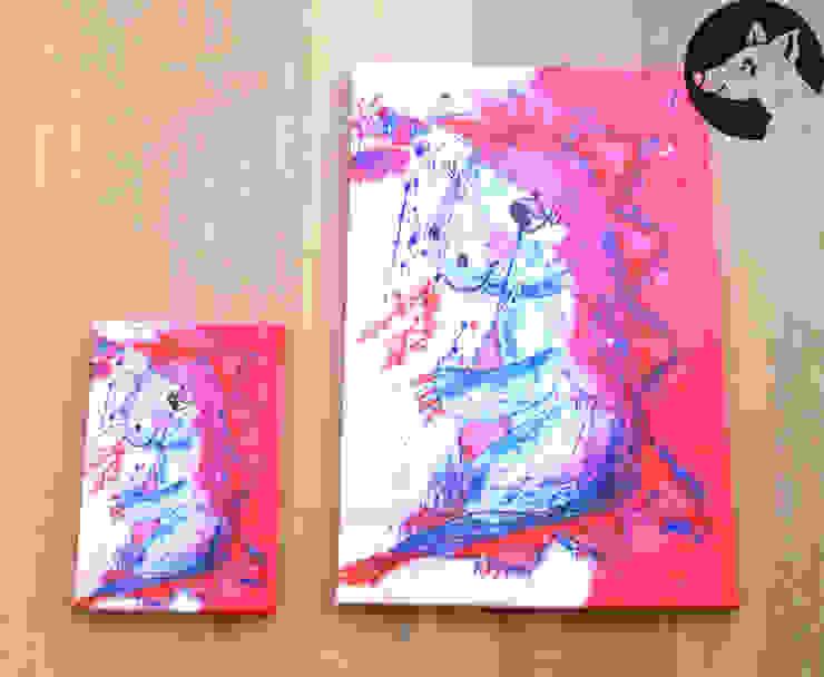 Druck auf Leinwand 40 cm x 60 cm und 20 cm x 30 cm: modern  von Little Walking Wolf,Modern