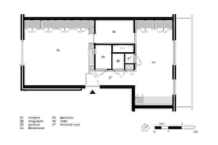 现代客厅設計點子、靈感 & 圖片 根據 Bureau Fraai 現代風