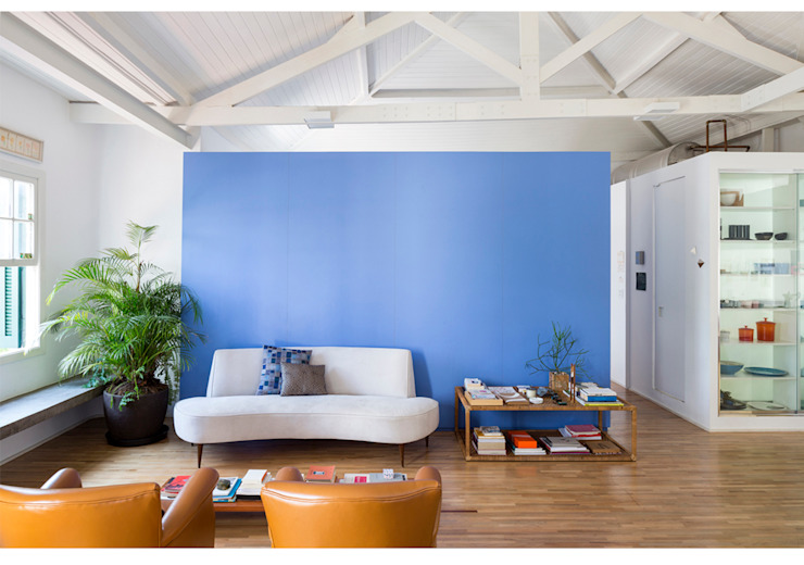 RSRG Arquitetos Salas de estilo minimalista Madera Multicolor