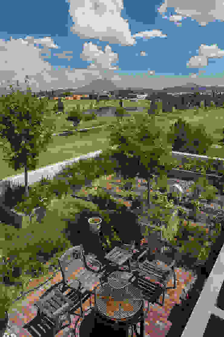 Terrazas y techos verdes. Huerto urbano. Jardines de estilo moderno de ARQUITECTURA EN PROCESO Moderno