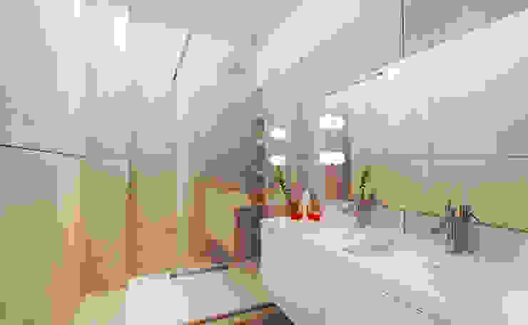 Salle de bain d'un hôtel Salle de bain moderne par Agence KP Moderne Céramique