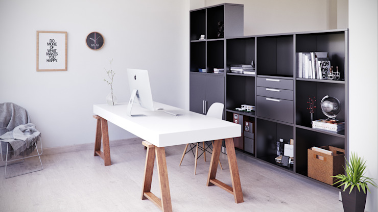 Modern study/office by SALA VISCOM Modern Wood Wood effect