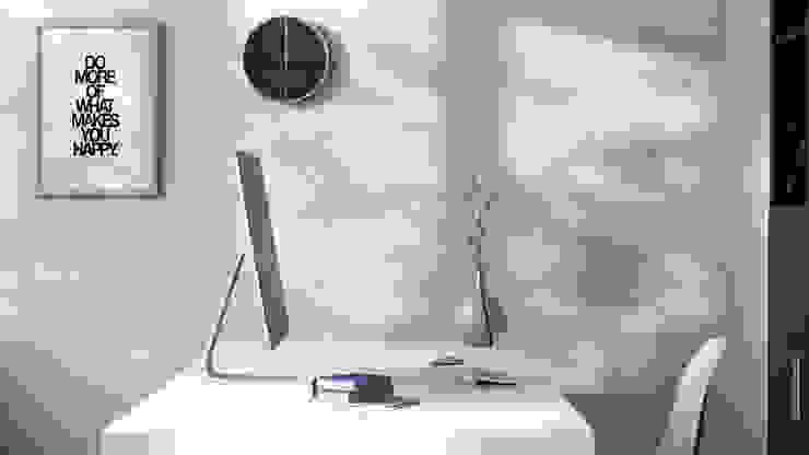 Home Office SALA VISCOM Estudios y despachos de estilo moderno Madera Blanco