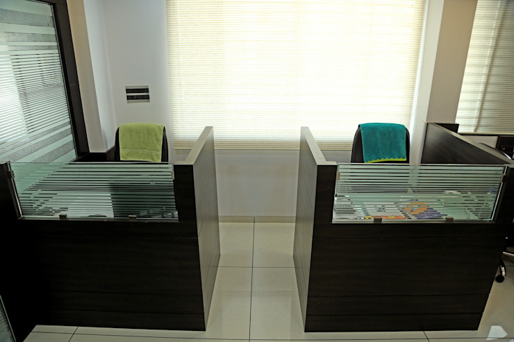 Staff Working Area Modern offices & stores by ZEAL Arch Designs Modern
