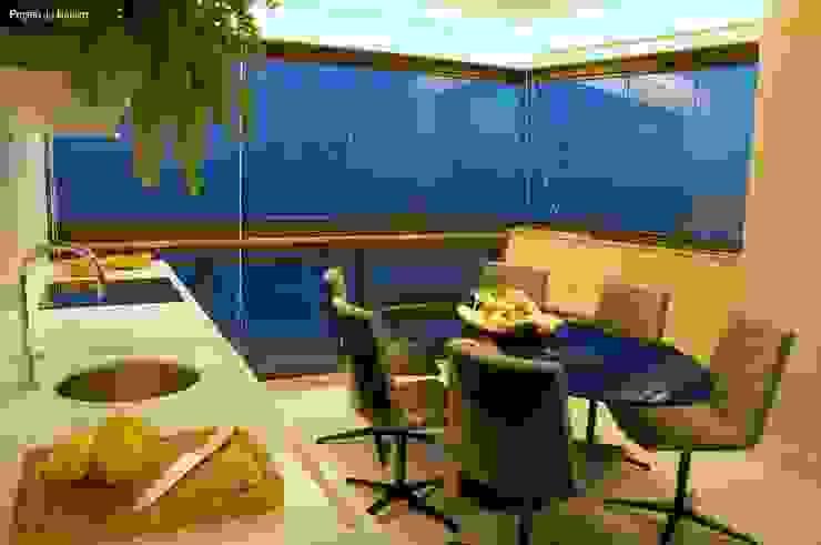 Varandas Varandas, alpendres e terraços modernos por Ju Nejaim Arquitetura Moderno Concreto