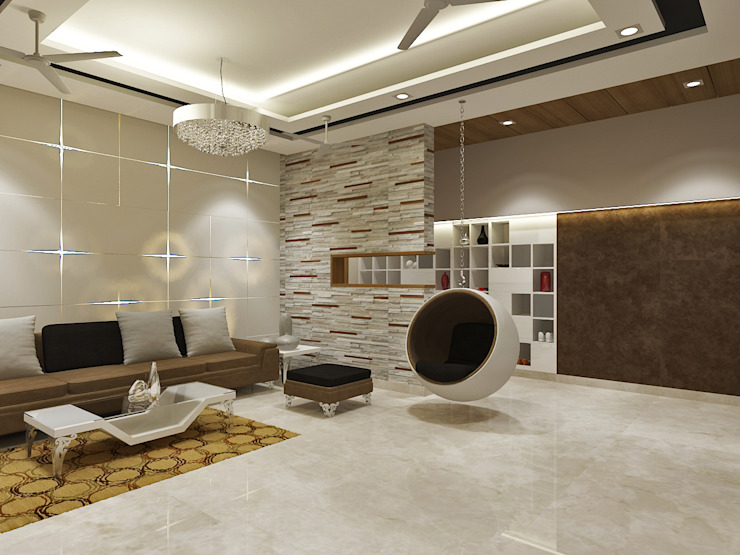 Pleasing Living room With Stunning Interiors by Vasantha Architects and Interior Designers (VAID)