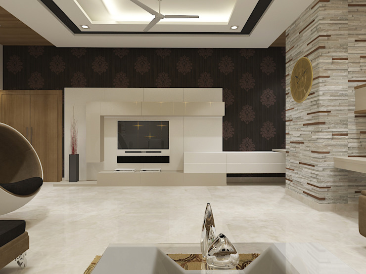View - 3 Of Living Room by Vasantha Architects and Interior Designers (VAID)