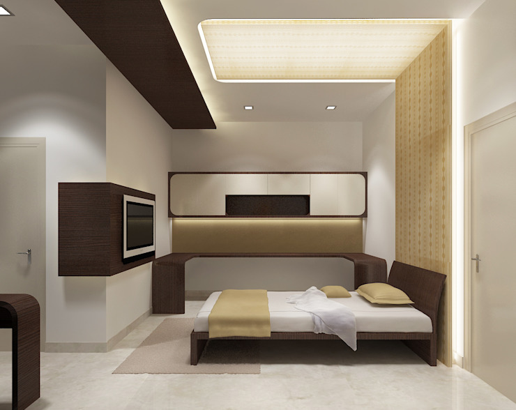 A Cool Looking Guest Bedroom by Vasantha Architects and Interior Designers (VAID)