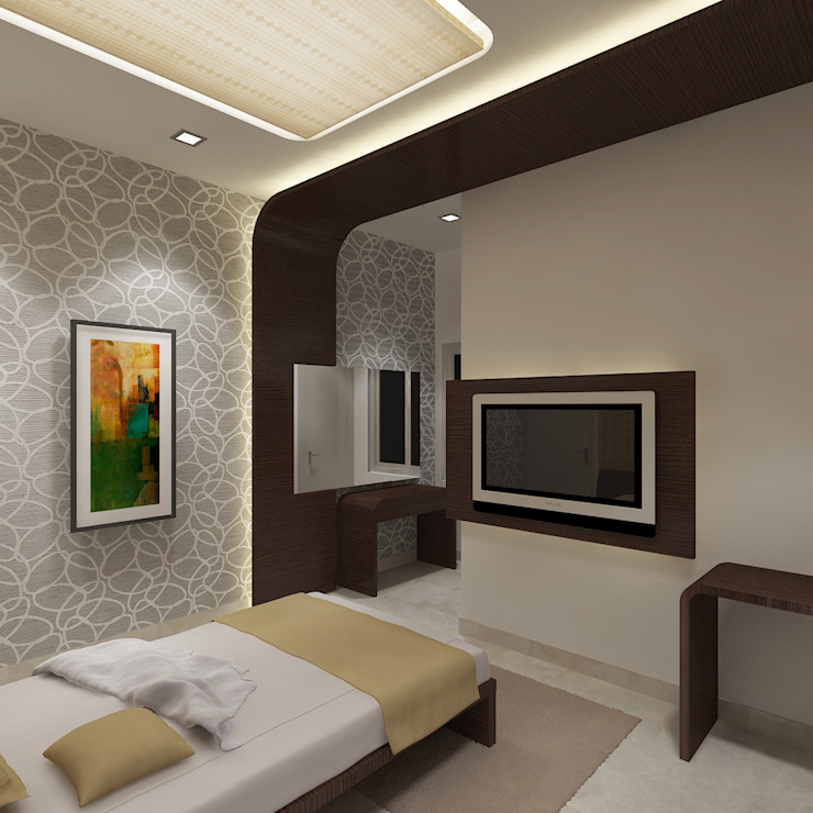 View - 2 Of Guest Bedroom by Vasantha Architects and Interior Designers (VAID)