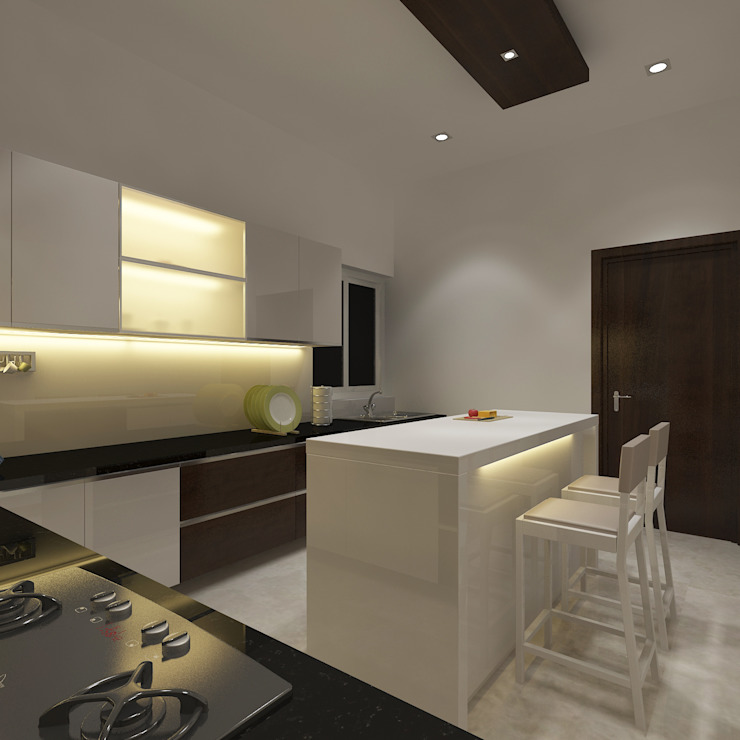 View - 2 Of Open Modular Kitchen by Vasantha Architects and Interior Designers (VAID)