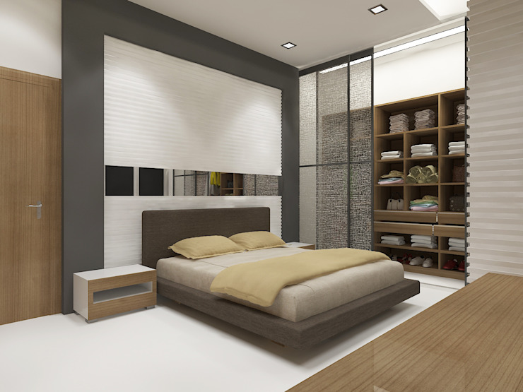Master Bedroom by Vasantha Architects and Interior Designers (VAID)