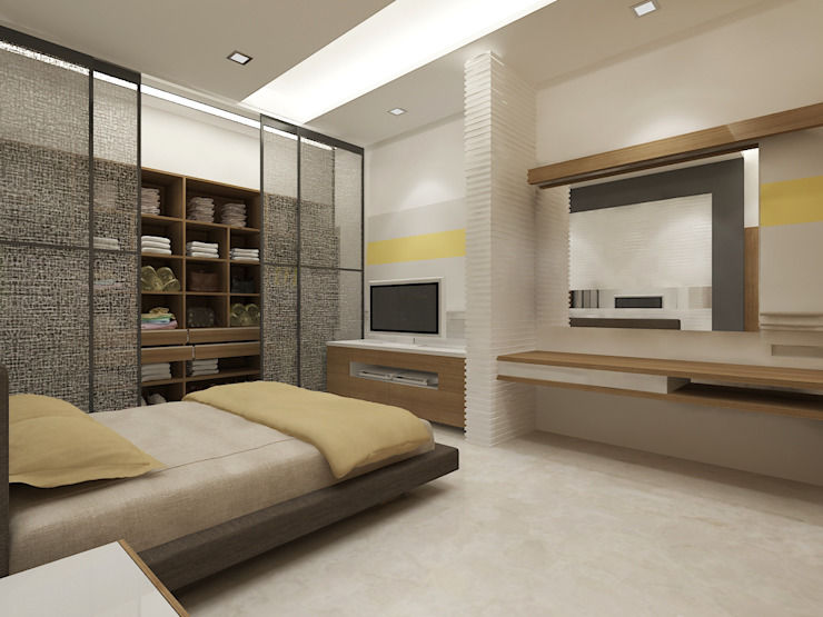 View - 2 Of Master Bedroom by Vasantha Architects and Interior Designers (VAID)