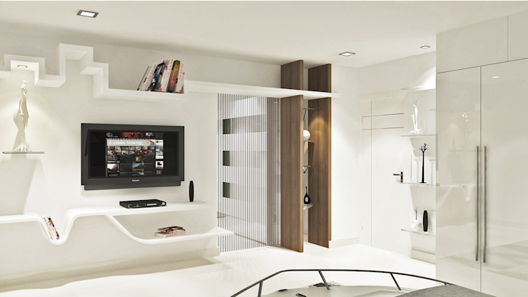 Spacious & Minimal Designed Hall by Vasantha Architects and Interior Designers (VAID)