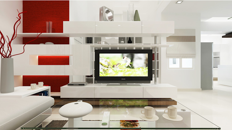 Drawing Room View 3 by Vasantha Architects and Interior Designers (VAID)