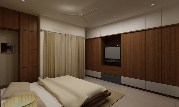 Pathare Residence Modern style bedroom by MAVERICK Architects Modern