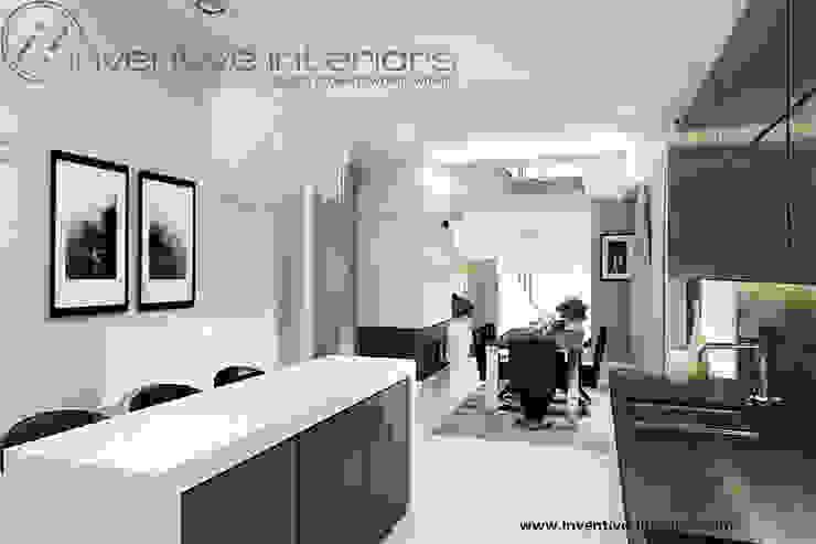 INVENTIVE INTERIORS – Klimatyczny dom w szarościach Nowoczesna kuchnia od Inventive Interiors Nowoczesny