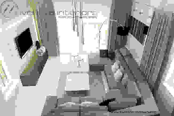 INVENTIVE INTERIORS – Klimatyczny dom w szarościach Nowoczesny salon od Inventive Interiors Nowoczesny