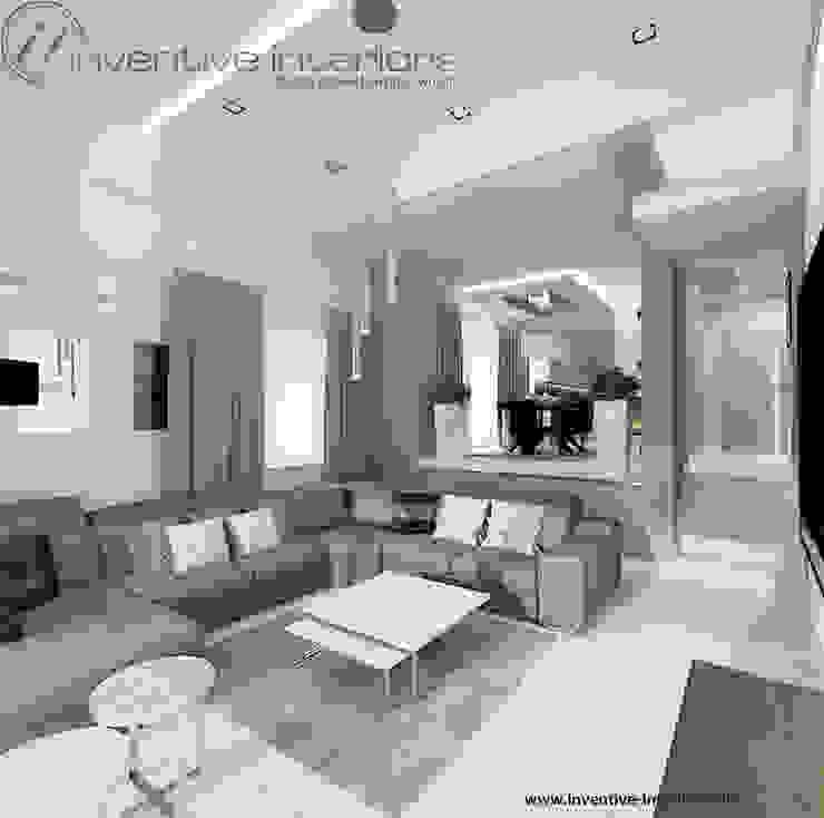 INVENTIVE INTERIORS - Klimatyczny dom w szarościach Nowoczesny salon od Inventive Interiors Nowoczesny Beton
