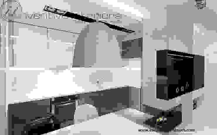Biało szara kuchnia Industrialna kuchnia od Inventive Interiors Industrialny Beton
