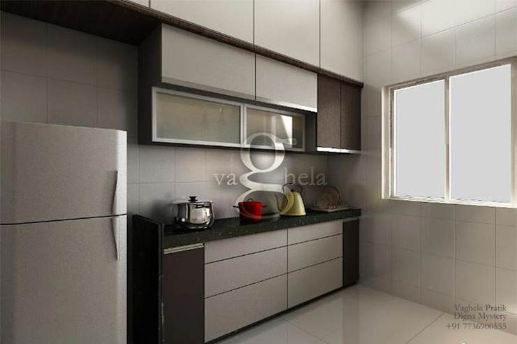 Kitchen: modern  by Vaghela interiors,Modern