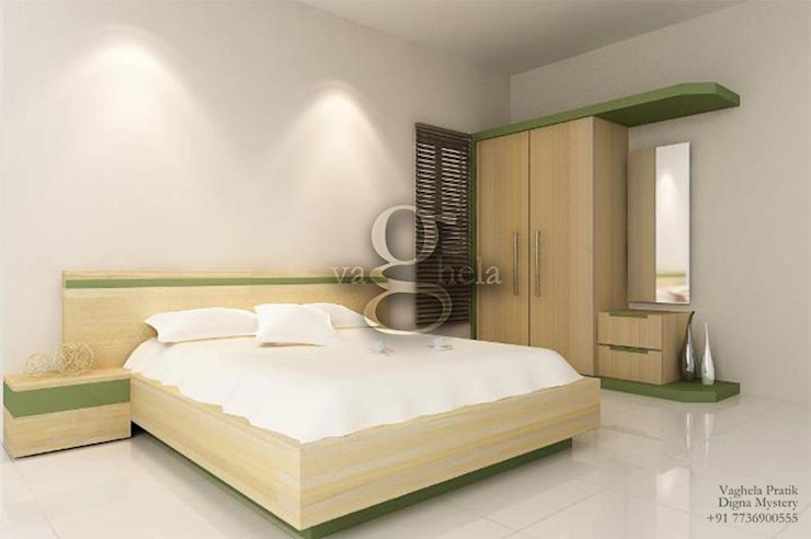 Bedroom Interiors: modern  by Vaghela interiors,Modern