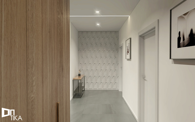 Modern Corridor, Hallway and Staircase by TIKA DESIGN Modern Concrete