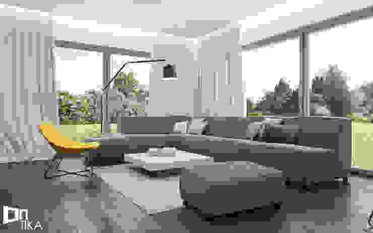 Salas de estilo moderno de TIKA DESIGN Moderno Madera Acabado en madera