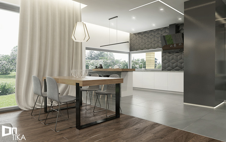 Modern dining room by TIKA DESIGN Modern Wood Wood effect
