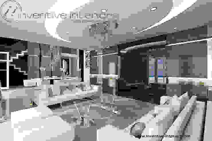 INVENTIVE INTERIORS – Dom z widokiem Klasyczny salon od Inventive Interiors Klasyczny Szkło