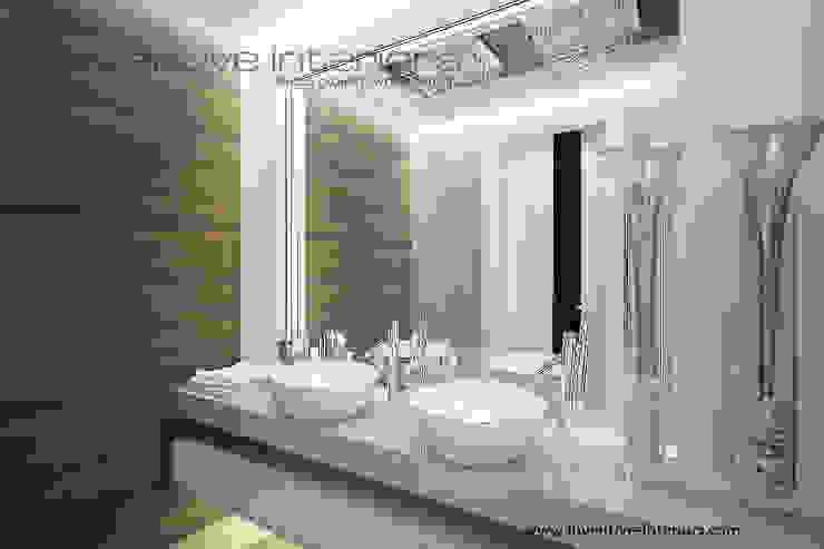 Piękne lustro w lazience Nowoczesna łazienka od Inventive Interiors Nowoczesny Marmur