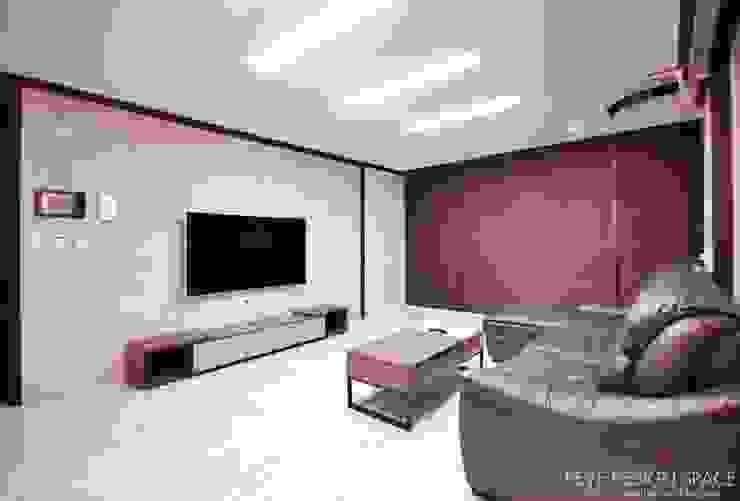 동탄아파트인테리어 능동 푸른마을두산위브 30평 인테리어 모던스타일 거실 by 디자인스튜디오 레브 모던