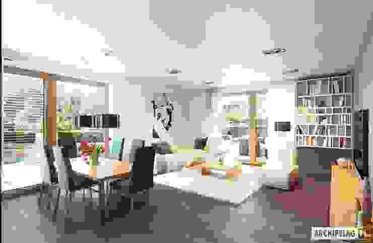 Salas de estar modernas por Pracownia Projektowa ARCHIPELAG Moderno