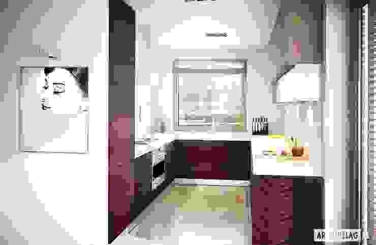 Cocinas modernas de Pracownia Projektowa ARCHIPELAG Moderno