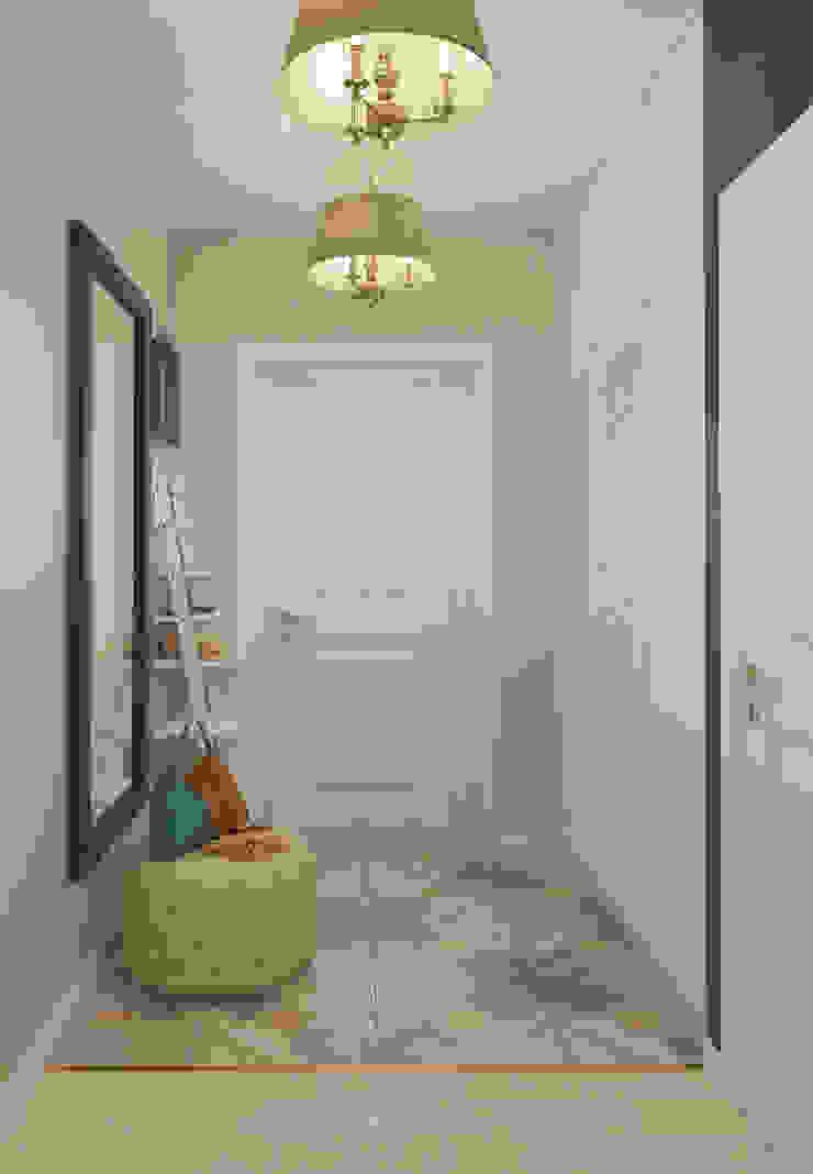 Визуализации проекта для семьи из г.Когалым Коридор, прихожая и лестница в стиле минимализм от Alyona Musina Минимализм