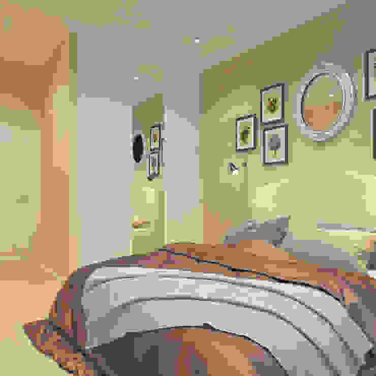 Визуализации проекта для семьи из г.Когалым Спальня в стиле минимализм от Alyona Musina Минимализм