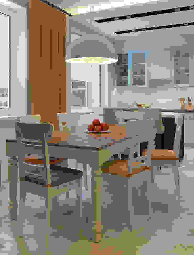 Визуализации проекта для семьи из г.Когалым Кухня в стиле минимализм от Alyona Musina Минимализм