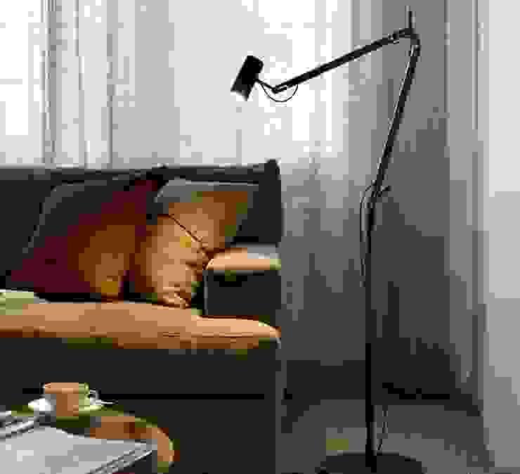 Lampadaire d'architecte, POLO, noir, LED, H120CM - Marset par NEDGIS Industriel Aluminium/Zinc