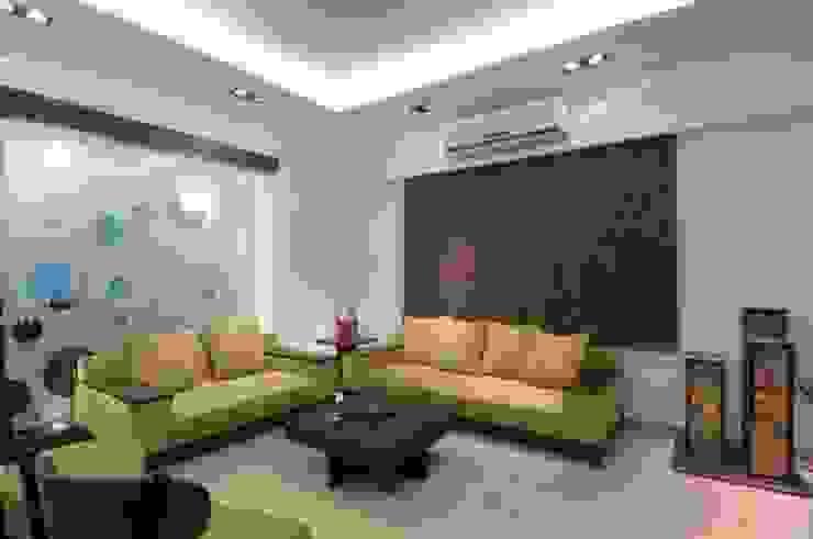 A SHOW APARTMENT Modern living room by Archana Shah & Associates Modern