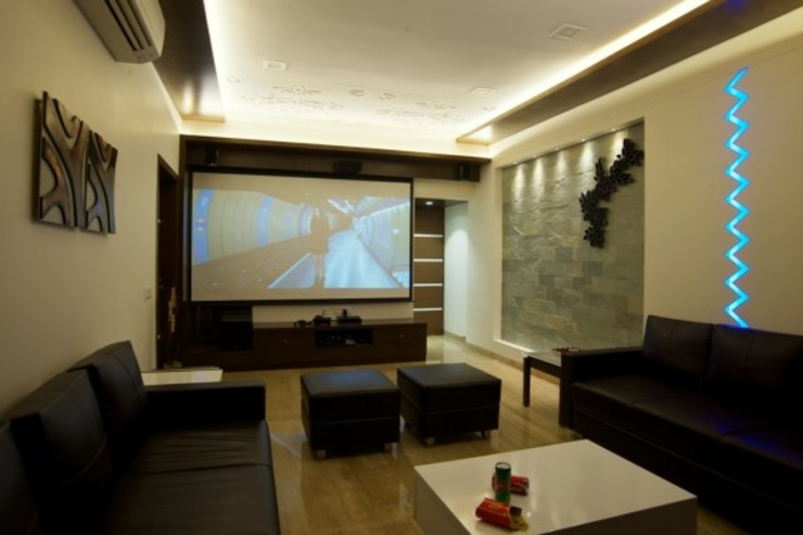 OPULENT SIMPLICITY Modern living room by Archana Shah & Associates Modern