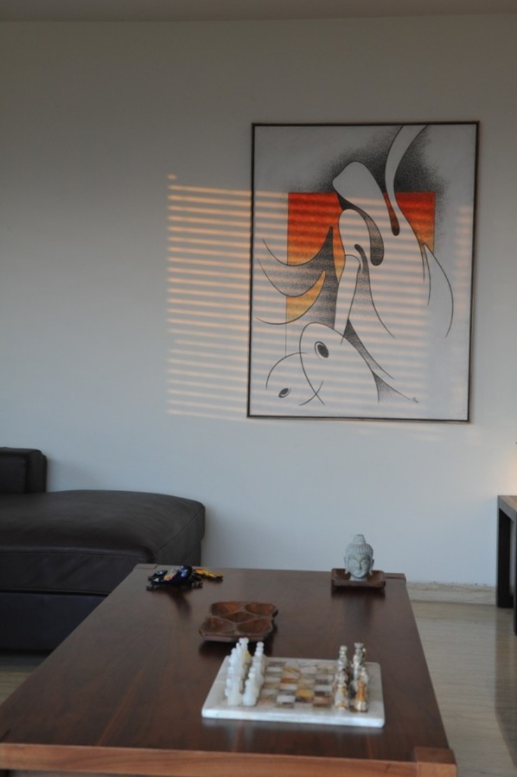 LIVING WITH NATURE Modern living room by Archana Shah & Associates Modern