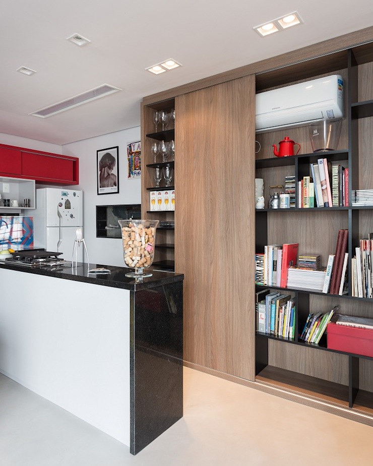 JA01 | Cobertura Salas de estar modernas por Kali Arquitetura Moderno