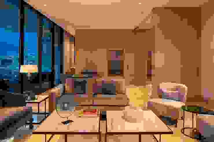 SALA Salones modernos de Rousseau Arquitectos Moderno