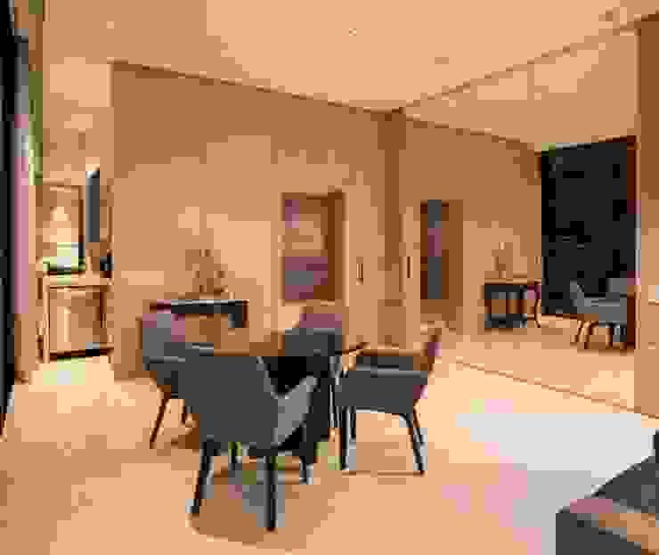 Rousseau Arquitectos Modern corridor, hallway & stairs