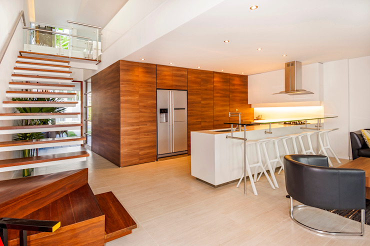 Modern kitchen by FR ARQUITECTURA S.A.S. Modern Wood Wood effect