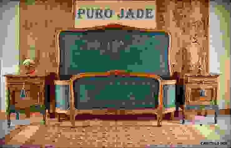 Camas:  de estilo colonial por Capítulo Dos,Colonial Madera maciza Multicolor