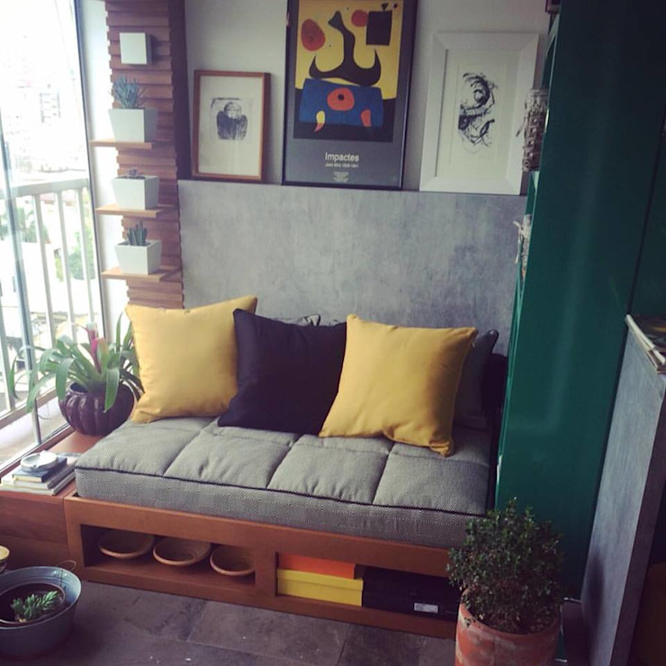 Ana Levy | Arquitetura + Interiores Балкон и терраса в стиле модерн